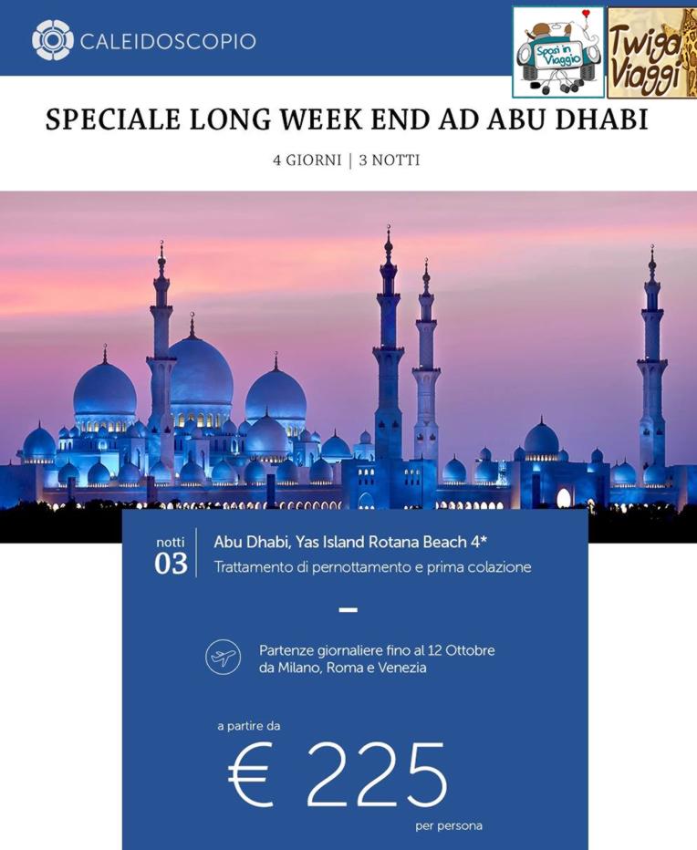 LONG WEEKEND DUBAI & ABU DHABI - 4 Giorni con volo di linea